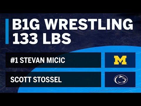 133 LBS: #1 Stevan Micic (Michigan) vs. Scott Stossel (Penn State) | Big Ten Wrestling