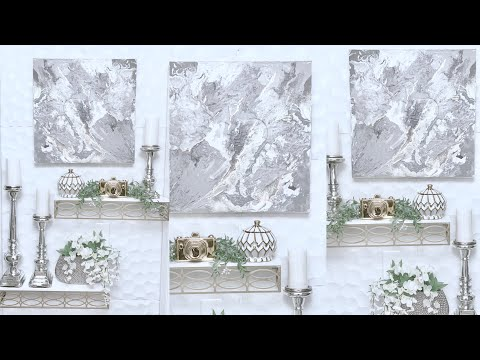DIY  WALL ART|DIY HOME DECOR 2019|ABSTRACT WALL ART