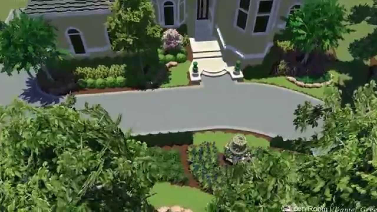 Garden Room Landscape Design 338 Youtube
