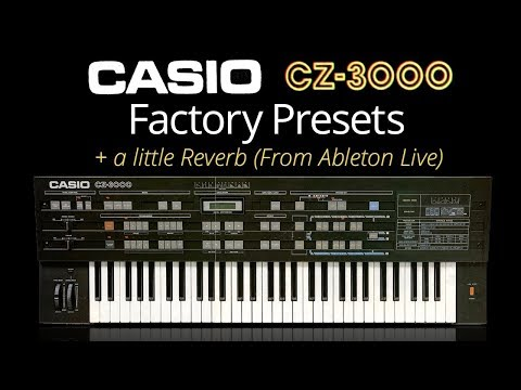 Casio CZ-3000 factory presets (and some of my own at the end)