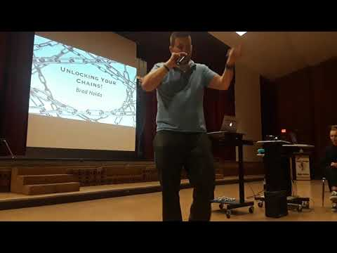 South Rowan High School Career coach giving motivational speech- Bradley Holda