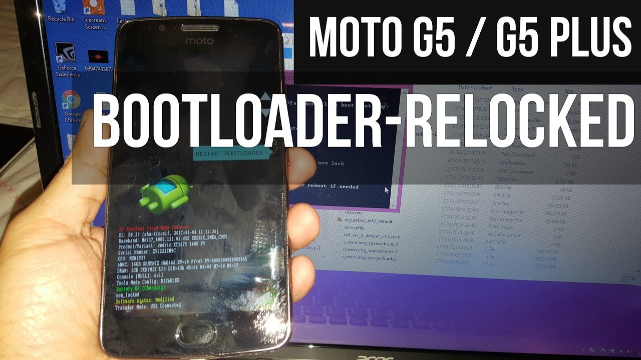 Moto G5/G5 Plus Relock Bootloader Tutorial