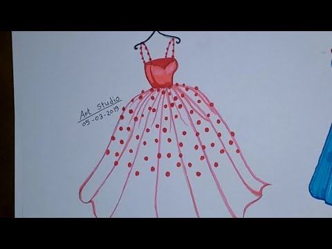 How To Draw A Princess Dress Easy Sketch Color Fashion Designer Art Studio Creation Youtube