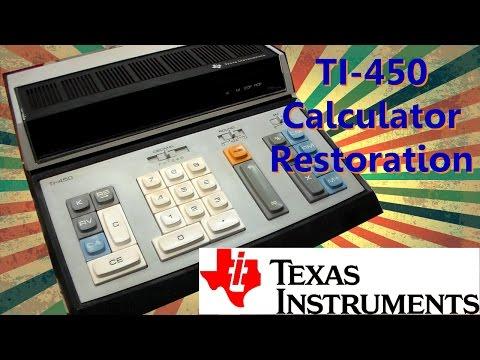 Texas Instruments TI-450 Vintage Calculator Restoration