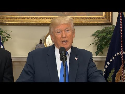 President Donald Trump announces immigration overhaul with Sen. Cotton, Sen. Perdue