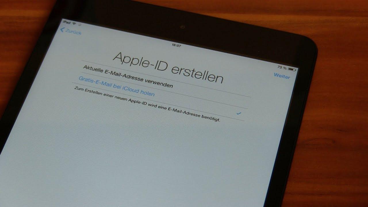 anleitung erstes einrichten des apple ipad mit ios7 inkl tutorial zum erstellen der apple id. Black Bedroom Furniture Sets. Home Design Ideas