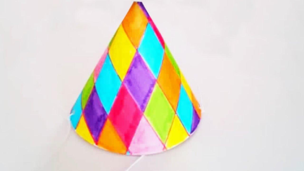 Tuto fabriquer un chapeau de carnaval pour enfant youtube - Activite manuelle avec du papier ...