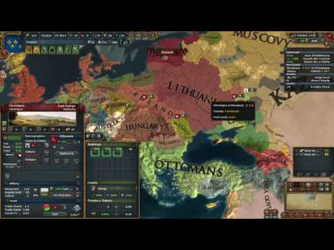 EU4 France into Rome - 1458 post war recovery (short)