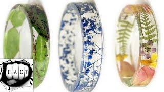 Colorful Frozen Flowers Resin Bracelet Accessories