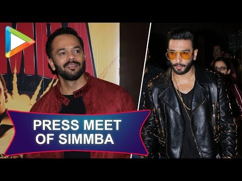 SPOTTED: Ranveer Singh, Sara Ali Khan, Rohit Shetty, Sonu at press meet of Simmba at JW Marriott