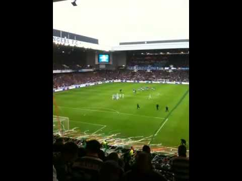 Celtic fans at the hunnery