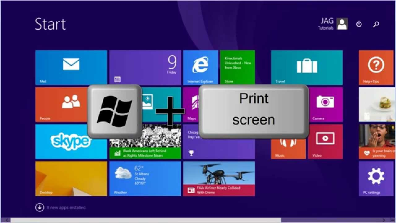 Windows 8 81 how to take a screenshot tutorial youtube ccuart Choice Image
