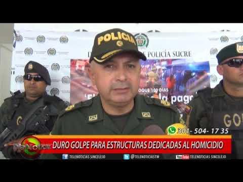 DURO GOLPE PARA ESTRUCTURAS DEDICADAS AL HOMICIDIO