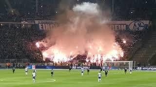 Hertha BSC vs Schalke 04 0:0 Pyroshow im Schalke Block