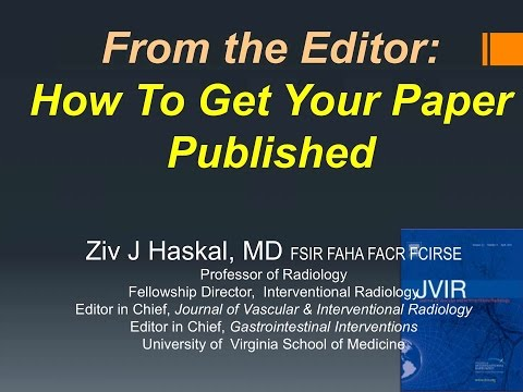 SIR-RFS Webinar (12/17/2015): How to Get Your Paper Published in a Peer-Reviewed Radiologic Journal thumbnail