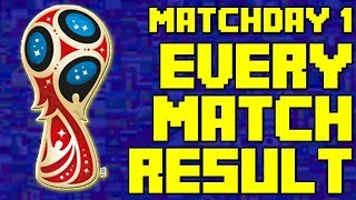 FIFA World Cup 2018 Group Stage Matchday 1 All Match Result