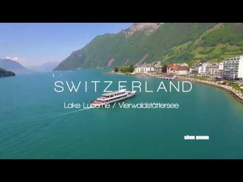 Switzerland - Lake Lucerne - Aerial Drone Video in 4K