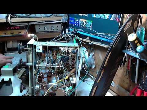 Canadian General Electric KL-76 Vacuum Tube Radio Video #5 - Alignment Check