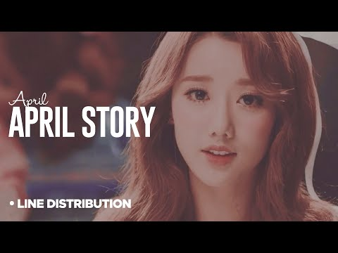 APRIL - April Story: Line Distribution (Color Coded)