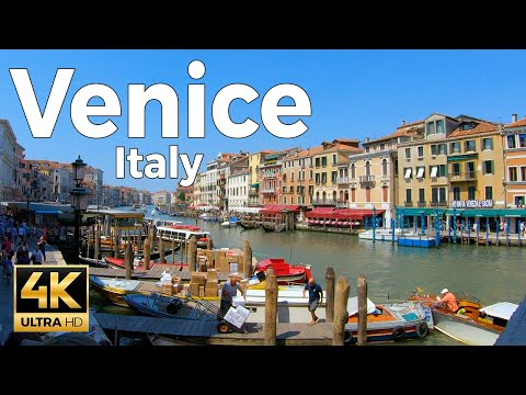 Venice, Italy Walking Tour (4k Ultra HD 60fps)