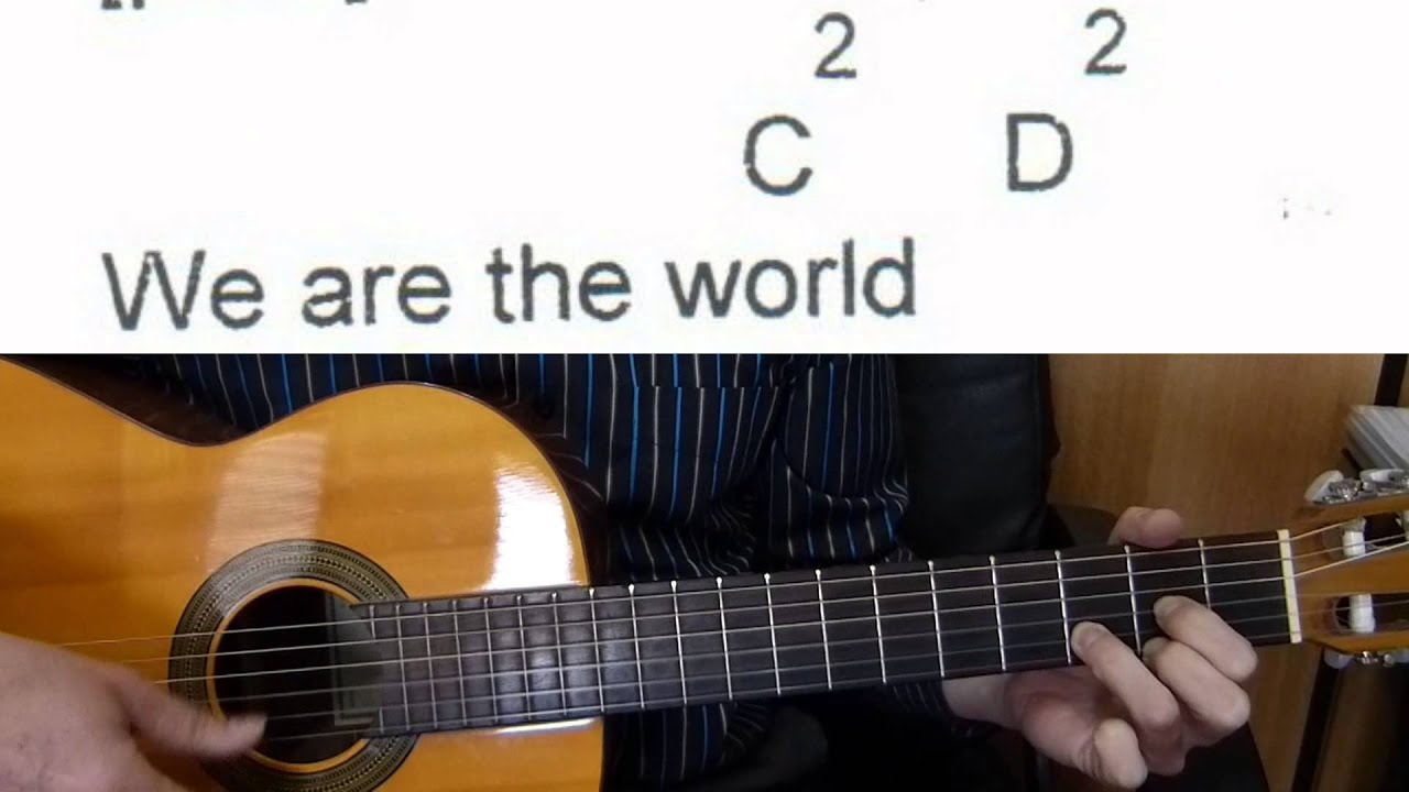 Guitar Accompaniment We Are The World Easy Guitar Including