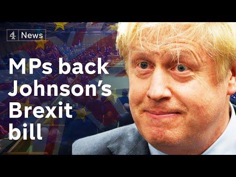 MPs back Johnson's EU withdrawal bill