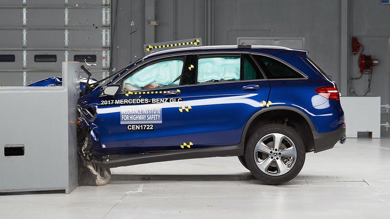 2017 Mercedes Benz Glc Driver Side Small Overlap Iihs Crash Test