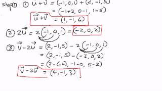 Vector in n Spaces -- Example 1