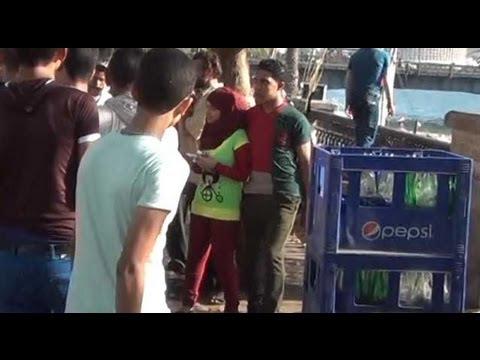بالفيديو..تحرش جنسى بالفتيات الصغار على كورنيش النيل