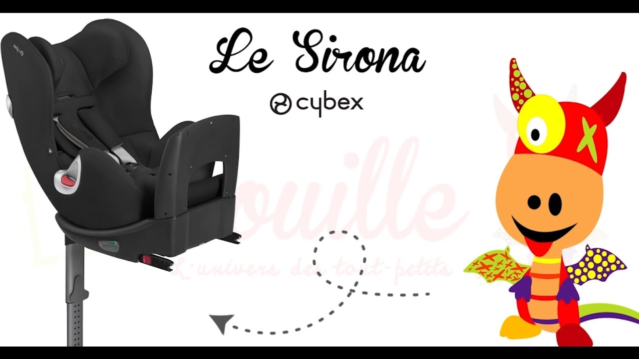 si ge auto pivotant sirona by cybex youtube. Black Bedroom Furniture Sets. Home Design Ideas