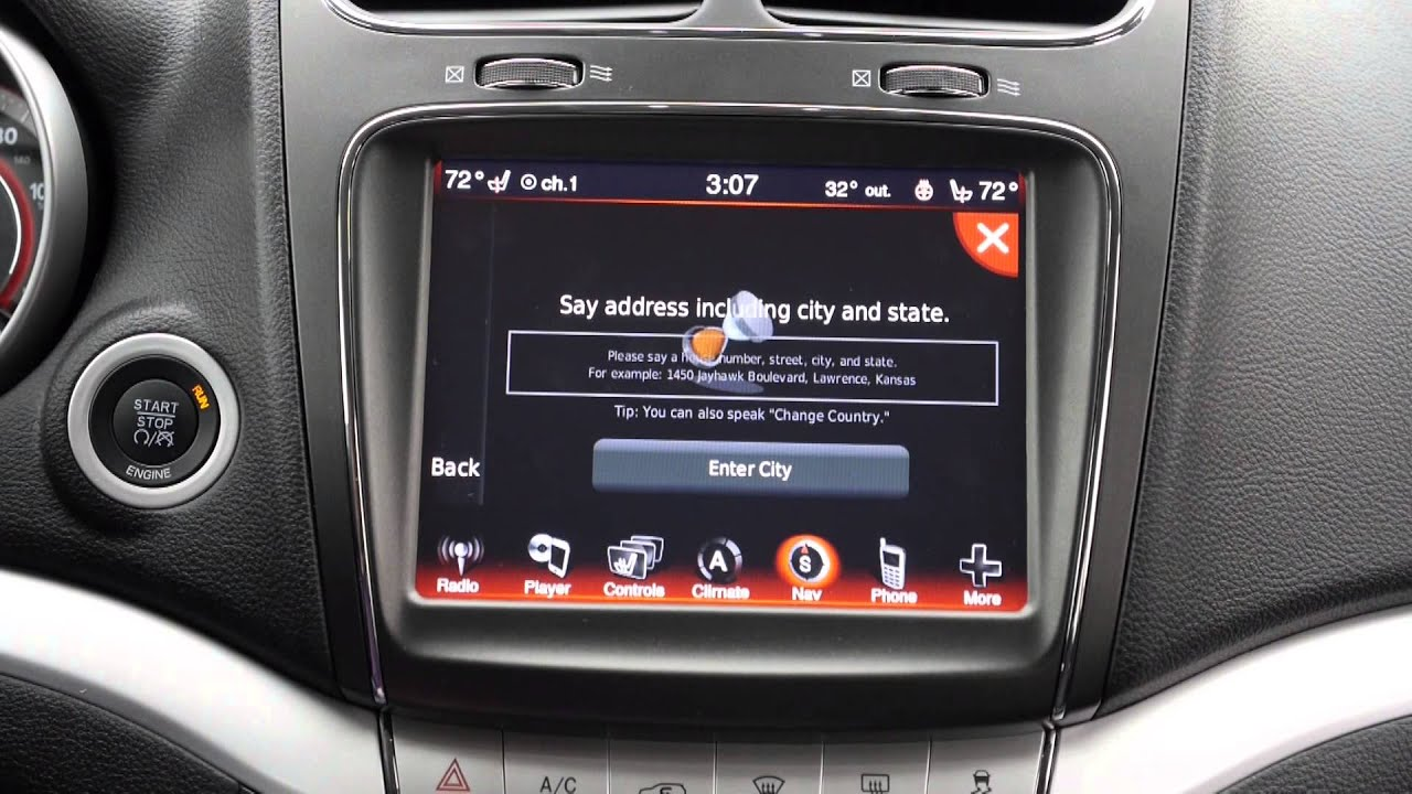 Dodge Journey Uconnect Navigation Youtube