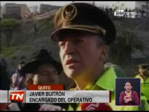 Protestas bloquearon temporalmente el tunel Guayasamín