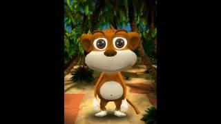 Говорящая Обезьяна Шимпи - Мой Виртуальный Питомец Забавные Говорящие Игры про Животных для Детей