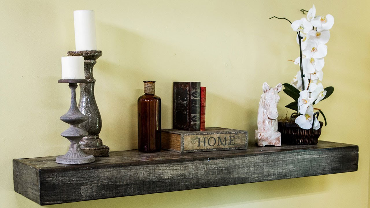 How To Make A Reclaimed Wood Mantel Youtube