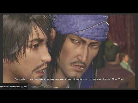 DW9 Cutscene - A Toast to Friendship (Guo Jia drinks with Xun You) [ Eng Sub]