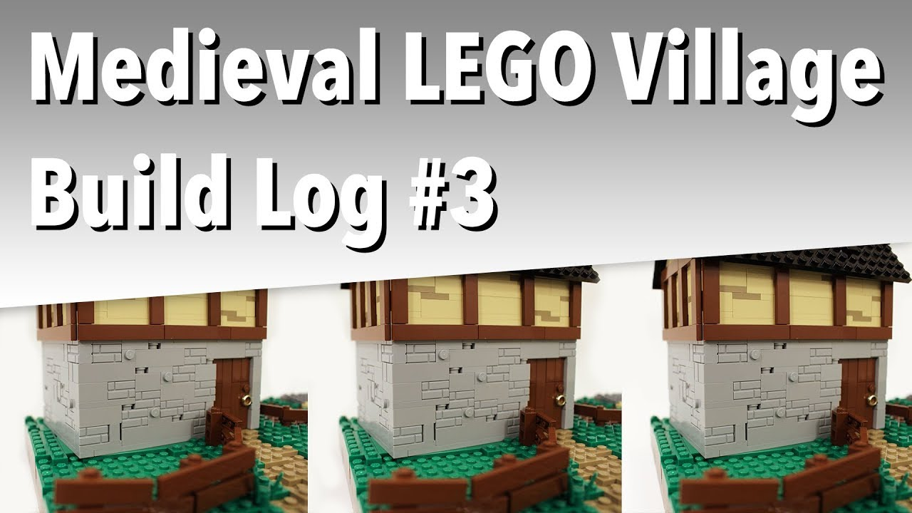 Okay, who said LEGO houses were easy   ? (Medieval LEGO Village - Build Log  #3)