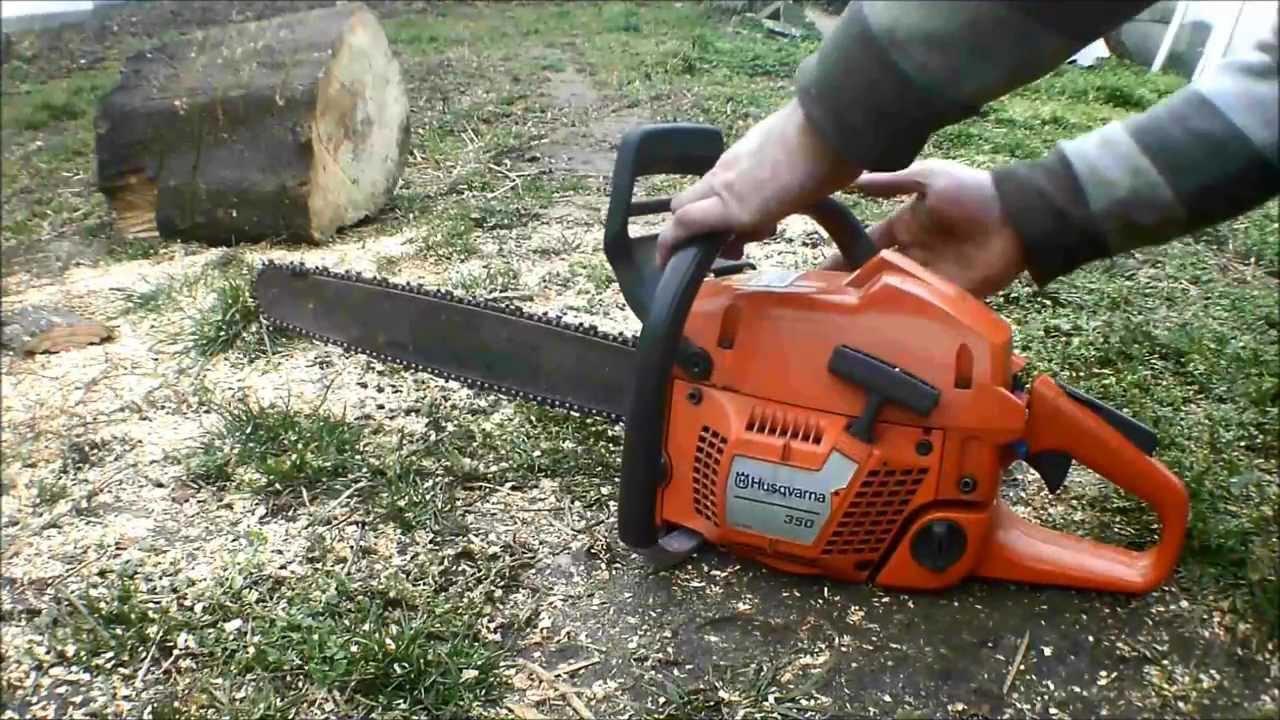 How to Start a Husqvarna 350 Chainsaw   Hunker