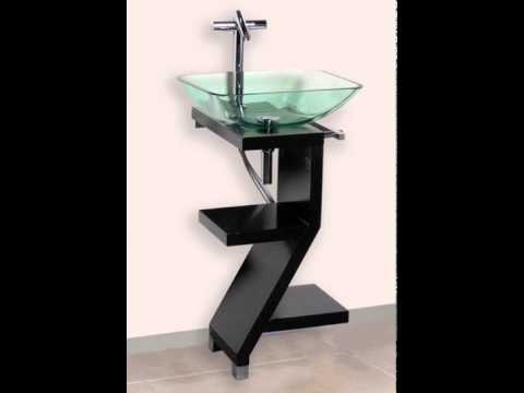 Modern Bathroom Vanity Sink Powder Room Cabinet Pedestal ...