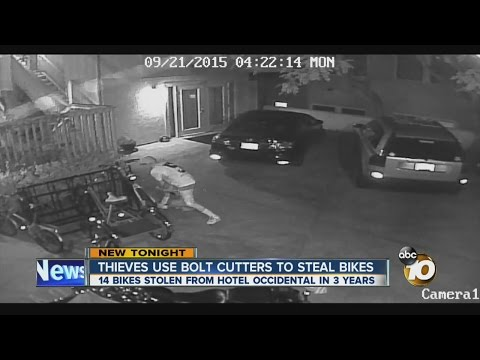 Thieves use bolt cutters to steal bikes at hotel in Banker's Hill