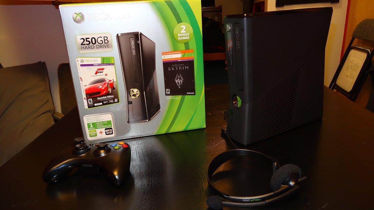 Xbox 360 250GB (Forza 4/Skyrim) Holiday Bundle Unboxing ...