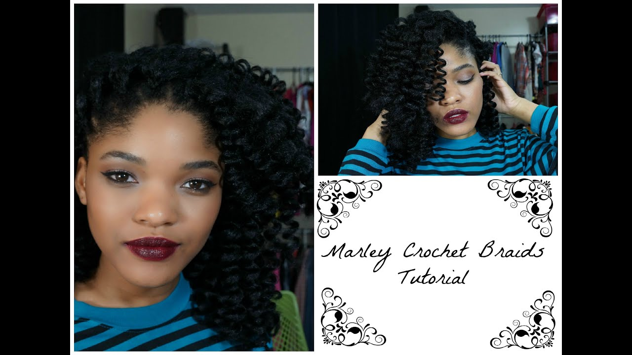 Crochet Braids Tutorial Youtube : Marley Crochet Braids Tutorial - YouTube