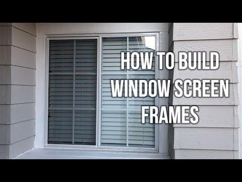 How To Make Window Screens