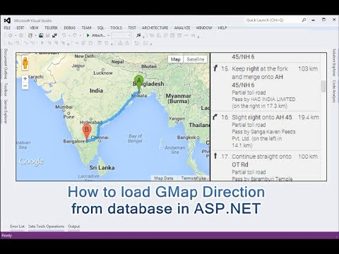 How to load GMap Direction from database in ASP NET