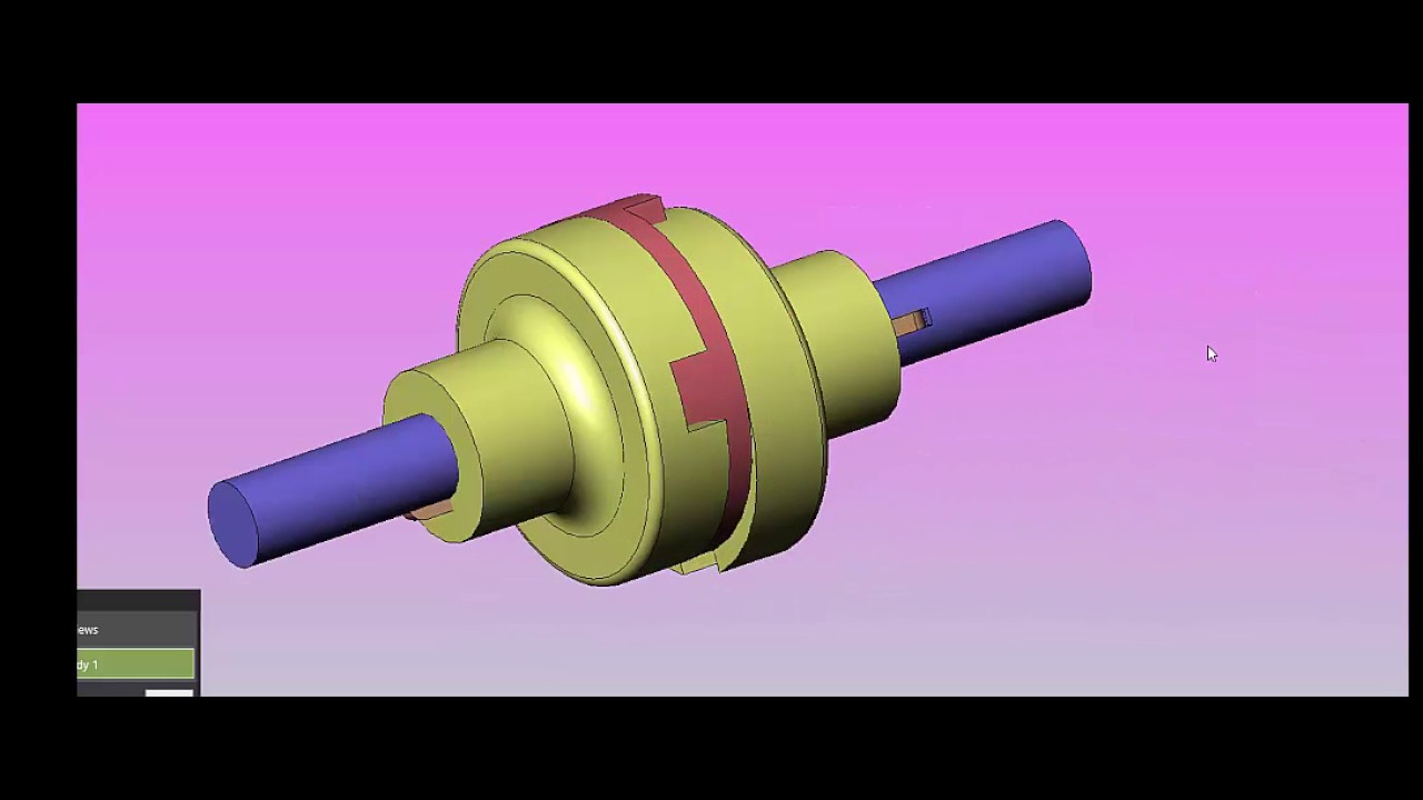Animation Of Oldham's Coupling ,Parts Of Coupling,Introduction to Oldhams  Coupling