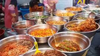 Explore the food of Korea. Eating at Gupo Traditional market Busan..