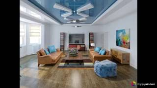 видео Фото разных вариантов дизайна двухуровневых натяжных потолков