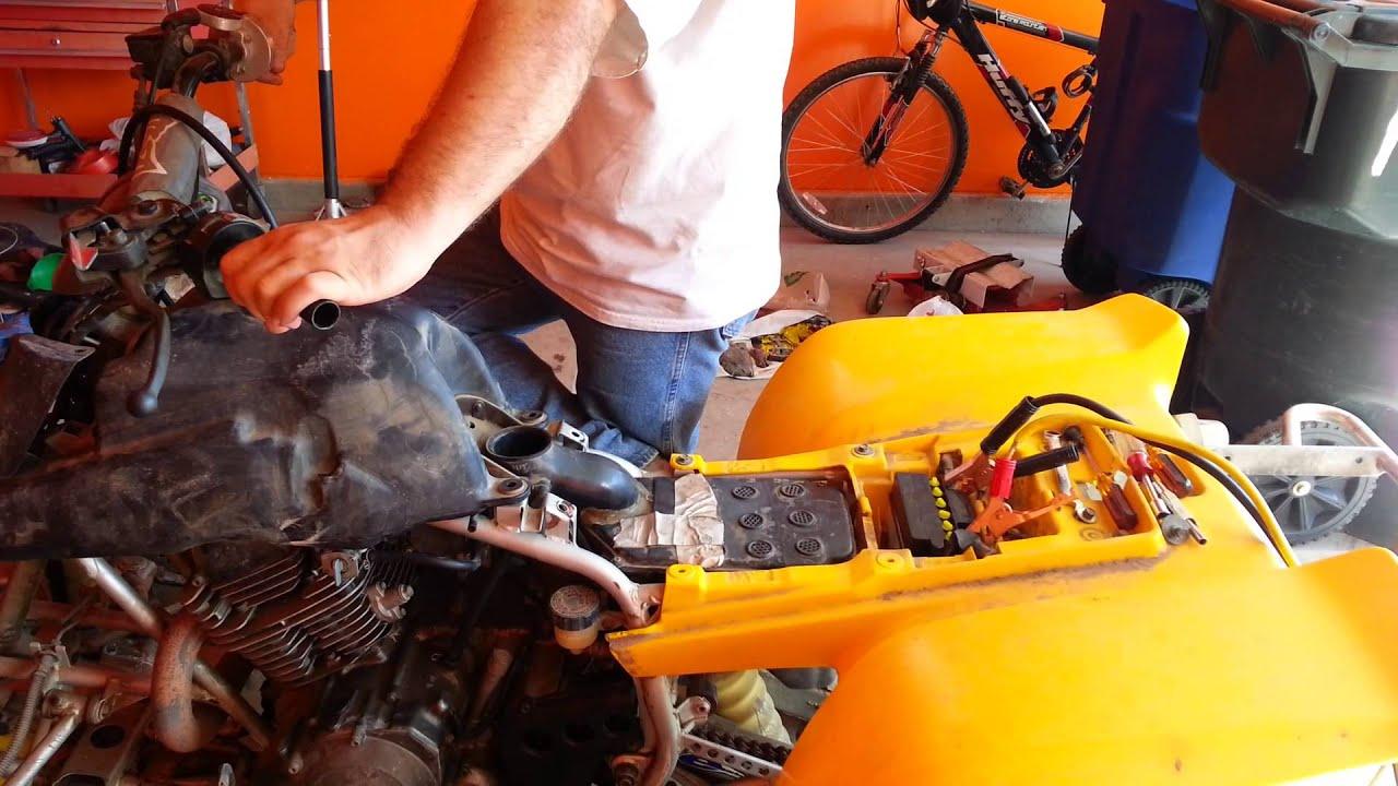 97 Yamaha Warrior 350 idle & full throttle problem  YouTube