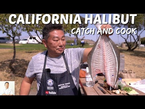 California Halibut (Parasite Infected) | Catch And Cook (2 Ways)