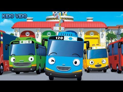 Игра Тайо Маленький автобус. Синий автобус Тайо едет на остановку. Детский мультфильм.
