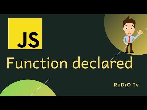 # Javascript Tutorial For Beginners || Javascript function declared  || Rudro Tv thumbnail